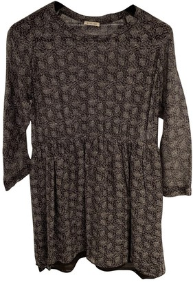Masscob Black Cotton Dress for Women