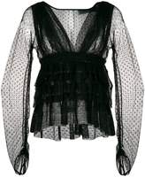 Christian Pellizzari sheer blouse