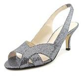 Caparros Caralynn Women Open-toe Canvas Silver Slingback Heel.