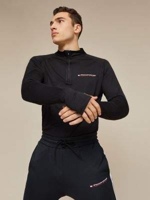 Tommy Hilfiger Quarter Zip Base Layer T-Shirt