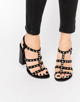 Call it SPRING Perren Chunky Studded Heeled Gladiator Sandal