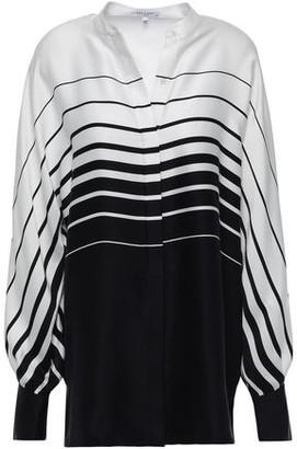 Equipment Sedaine Oversized Striped Silk-blend Satin Shirt