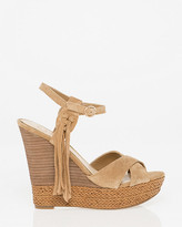 Le Château Suede Open Toe Wedge Sandal