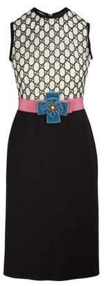 Gucci GG dual-fabric dress