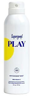 Supergoop! Play Antioxidant Body Mist Spf 50 with Vitamin C 6 oz.