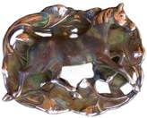 Elaine Coyne Earth Patina Running Horse on Water Lilies Pin