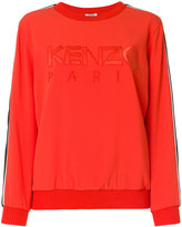 Kenzo Paris embroidered sweatshirt - women - Polyamide/Polyester/Spandex/Elastane/Triacetate - S