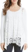 Karen Kane Lace Front Handkerchief Top