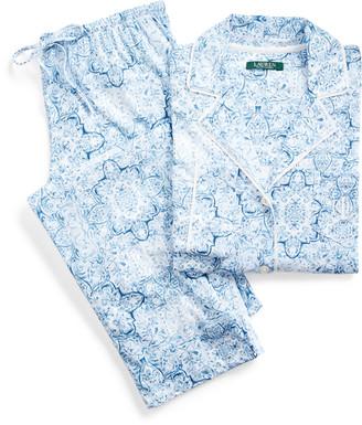Ralph Lauren Paisley Cotton Pyjama Set
