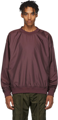 Fear Of God Burgundy Nylon Crewneck Sweatshirt