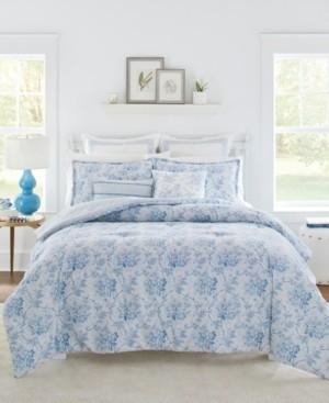 Laura Ashley Nina King Comforter Bonus Set, 7 Piece Bedding