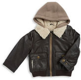 London Fog Baby Boys Sherpa-Lined Aviator Jacket