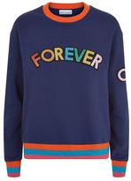 Mira Mikati Forever Or Never Appliqué Sweatshirt