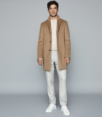Reiss Gable - Wool Epsom Overcoat in Camel