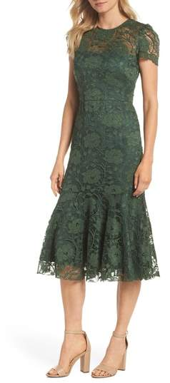 Gal Meets Glam Eve Lace Midi Dress