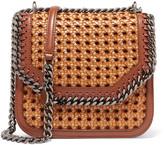 Stella McCartney The Falabella Box Medium Woven Faux Leather Shoulder Bag - Tan