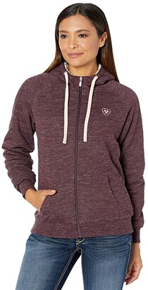 Ariat R.E.A.L.tm Sherpa Hoodie Full Zip Sweatshirt (Wine Tasting) Women's Clothing