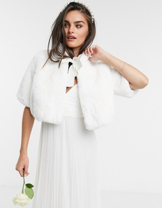 French Connection Summer White Bridal Cape