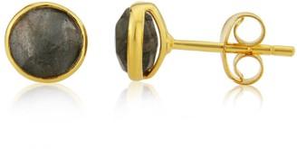 Auree Jewellery Savanne Gold Vermeil & Labradorite Stud Earrings
