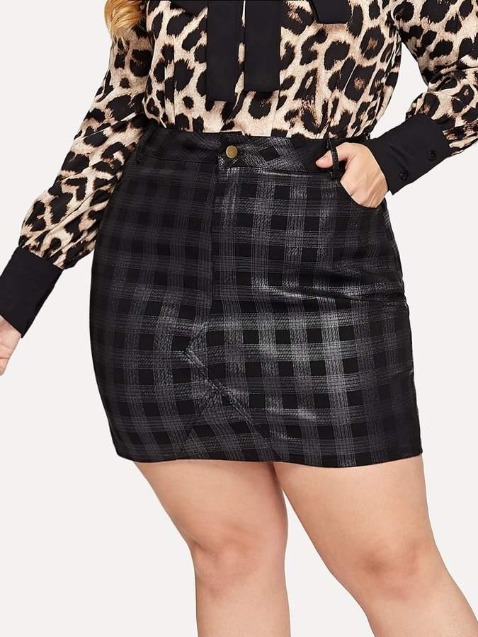 caa07a41b0 Plus Size Denim Skirt - ShopStyle
