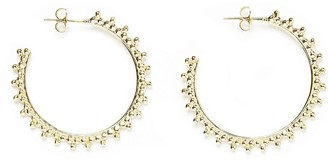 Agnes de Verneuil Three Pearls Small Hoops Earrings - Gold