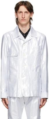 Ann Demeulemeester Silver Helm Jacket