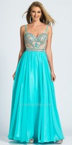Dave and Johnny Beaded Sweetheart Cutout A-line Prom Dress