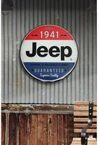 Jeep 24 in. x 24 in. Hollow Curved Tin Button Sign Wall Art