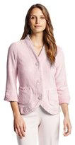 Casual Moments Women's Bed Jacket with Velcro Closings
