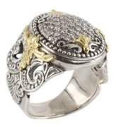 Konstantino Asteri Pavé White Diamond, 18K Yellow Gold and Sterling Silver Ring