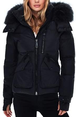 SAM. Jetset Fur-Trim Down Coat