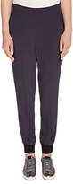 Oui Relaxed Trousers, Navy
