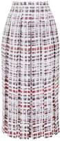 Burberry Pleated Scribble Check Midi Skirt