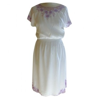 Non Signã© / Unsigned Hippie Chic White Synthetic Dresses