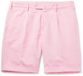 Incotex - Slub Cotton And Linen-blend Shorts