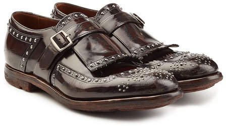 Church's Embellished Leather Monk Shoes