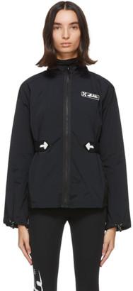 Off-White Black Athleisure Full Zip Jacket