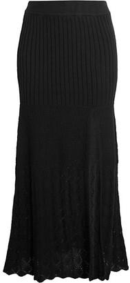 Free People Bari Knit Column Skirt