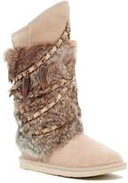 Australia Luxe Collective Atilla Tall Genuine Sheepskin and Genuine Rabbit Fur Boot