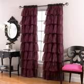 Lorraine Home Fashions Gypsy Zebra Ruffle Window Panel, 56-Inch by 84-Inch