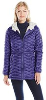 Steve Madden Women's Quilted Glacier Shield Coat