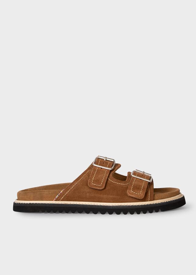 Paul Smith Men's Tan Suede 'Phoenix' Sandals