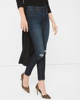 White House Black Market Petite Destructed Skimmer Jeans