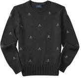 Ralph Lauren Embroidered Cotton Sweater