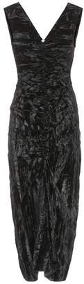 REJINA PYO Isabelle crushed-velvet dress