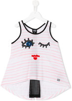 Armani Junior face print vest top - kids - Polyester/Viscose - 4 yrs