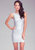 Bebe Hologram Sequin Dress