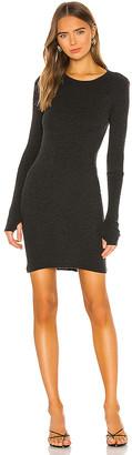 Enza Costa Cashmere Blend Thermal Cuffed Mini Dress