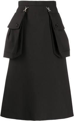 Comme des Garcons maxi pocket A-line skirt