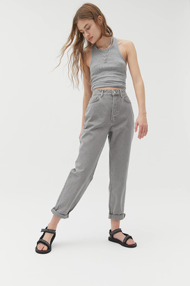 BDG High-Waisted Mom Jean Washed Grey